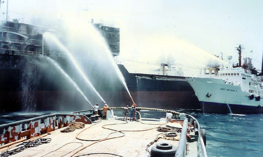 "fire on M/V ""ANAFI"""
